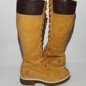 Timberland 23345 Womens Size 7.5Wheat Nubuck Boot